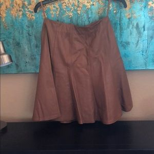 Whbm preowned leather skirt